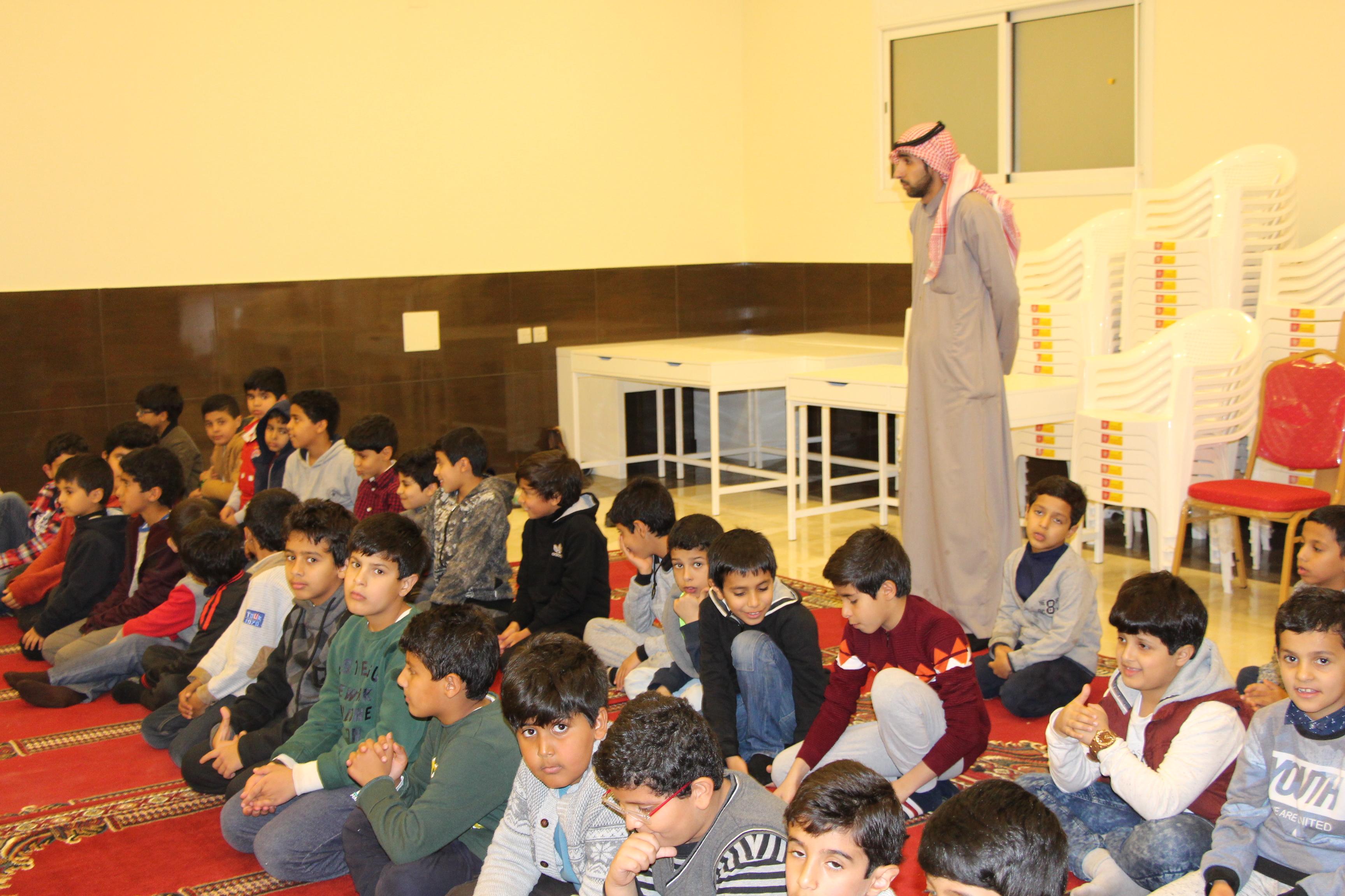 برنامج براعم القرآن الخامس الذي تقيمه جمعية التحفيظ بالرس لطلاب المرحلة الابتدائية ويقام بدار الشيخ صالح محمد العوفي