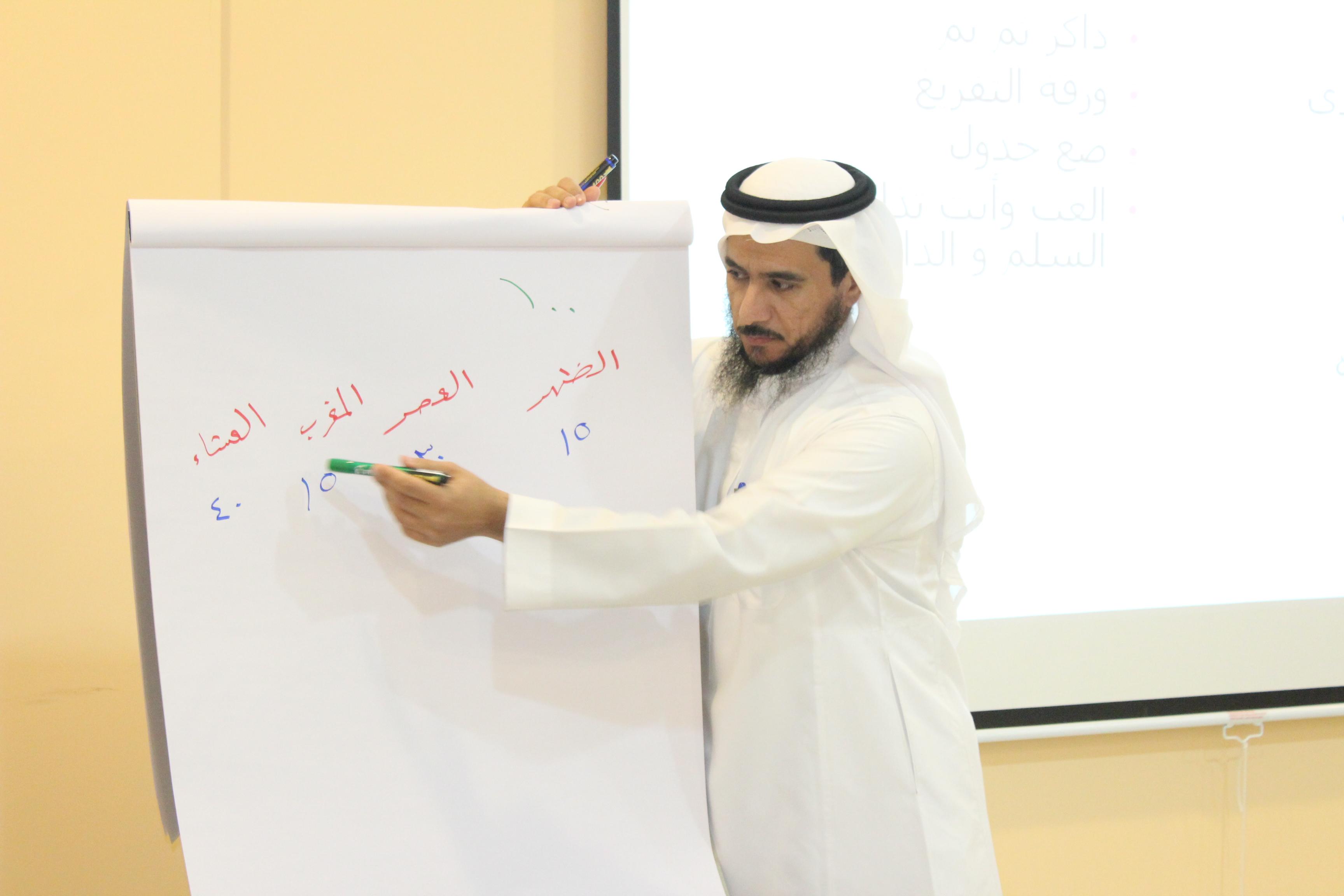 دورة بعنوان (كيف تذاكر للمجمعات والمدارس والمراكز للمدرب أ/ بدر الدبيان بمقر جمعية التحفيظ)