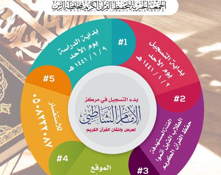 بدء التسجيل في مركز الإمام الشاطبي لعرض وإتقان القرآن الكريم